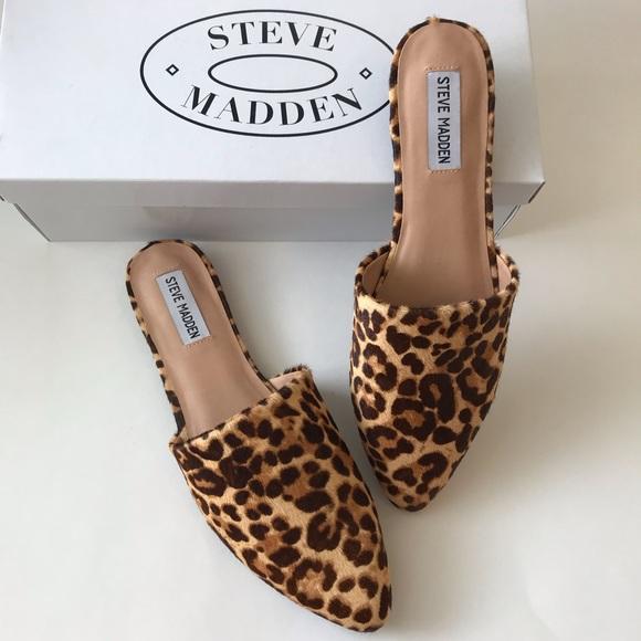 Steve Madden Tracel Leopard Print Mules